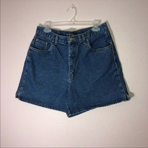 High-Waisted Halston Denim Shorts